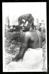 Bushnegro Woman Tattoo Scarification Suriname 50s