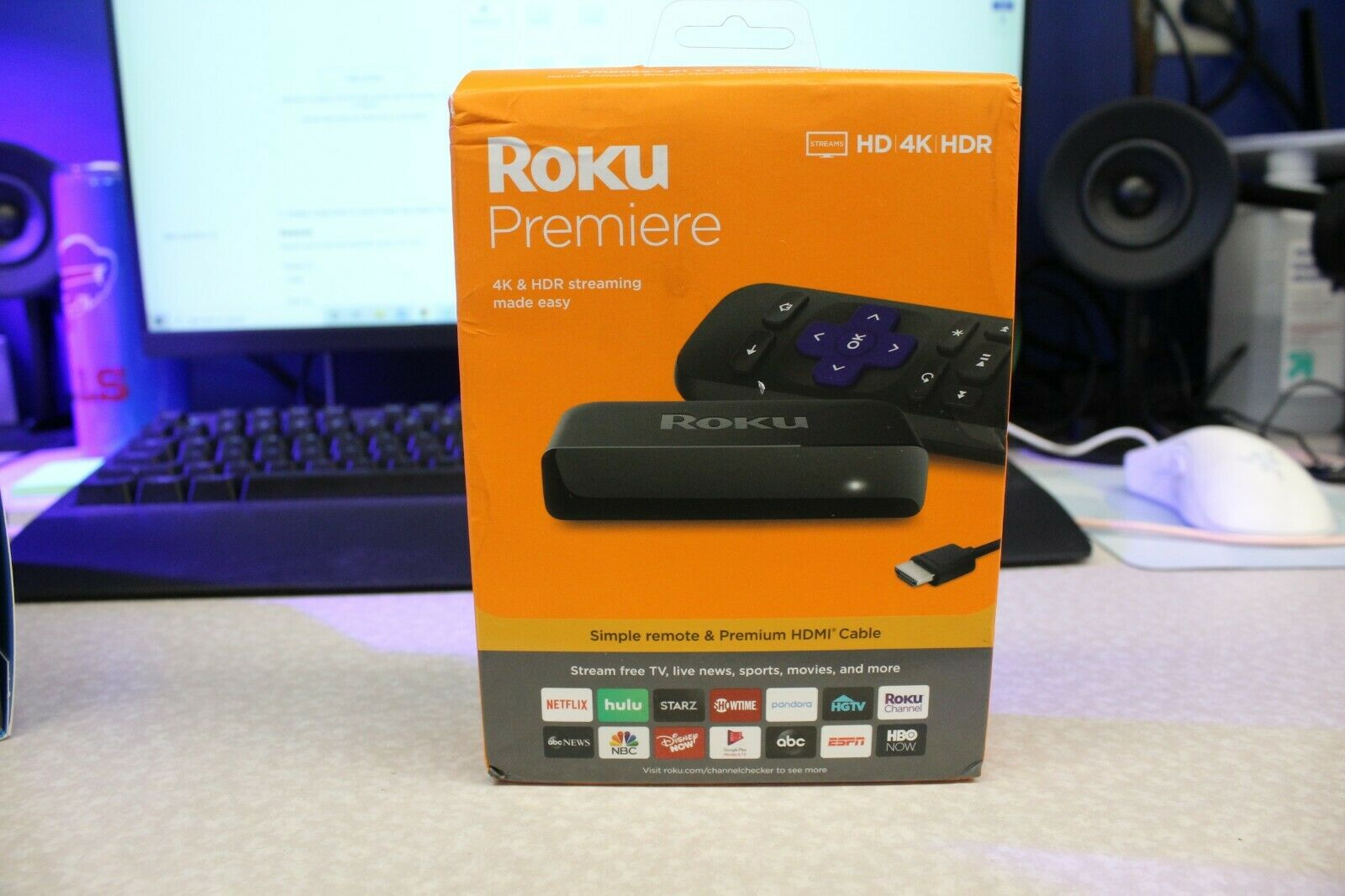 Roku Premiere HD/4K/HDR Streaming Media Player media player premiere roku streaming