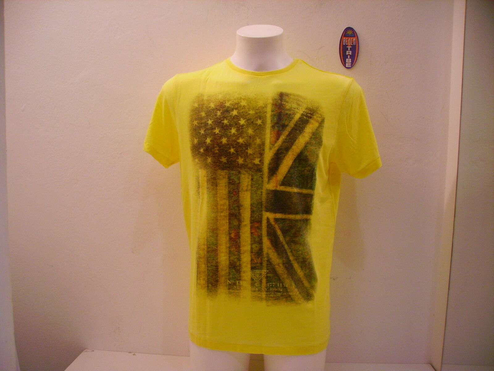 CATBALOU MEN'S T-SHIRT SHORT SLEEVE PHONE YELLOW L