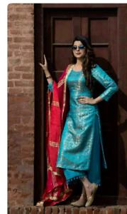 f53c671cd6f Image is loading Indian-salwar-kameez-laced-palazzo-punjabi-ladies-suit-