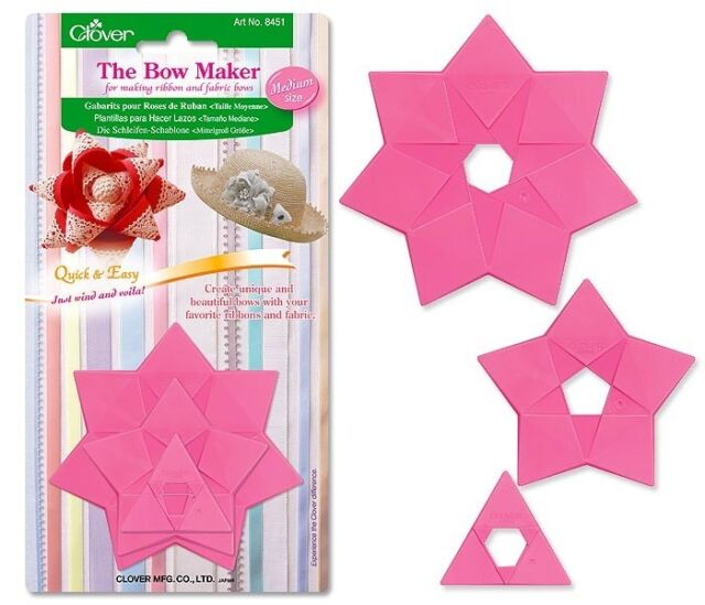 Clover Bow Makers Medium 3 Types #CL8451 Sewing Quilting Notions