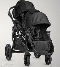 Baby Jogger 2015 City Select Double Stroller Black on Black Frame New Open Box