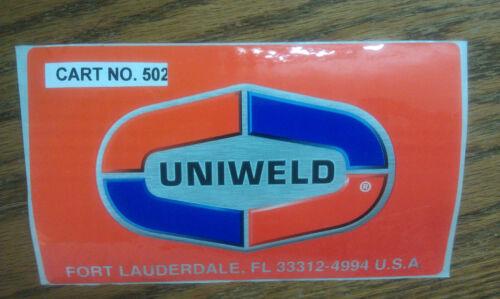 "6/"" x 3-1//2/"" Sticker UNIWELD Florida COOL COLORS Fort Lauderdale"