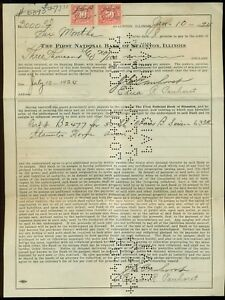 1924-Staunton-IL-First-National-Bank-of-Staunton-Revenue-Stamped-Promissory-Note
