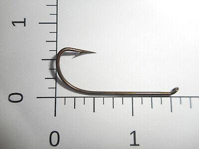 BAIT Hooks Limerick TD eye Bronzed REVERSED 1921 100 MUSTAD 2//0 Fly Tying