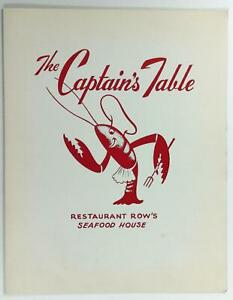 Details About 1950 S Menu The Captain S Table Seafood House Restaurant Los Angeles California