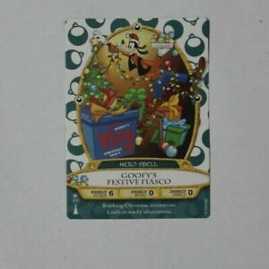 Disney-Sorcerers-of-the-Magic-Kingdom-card-10-P-Goofy-039-s-Festive-Fiasco