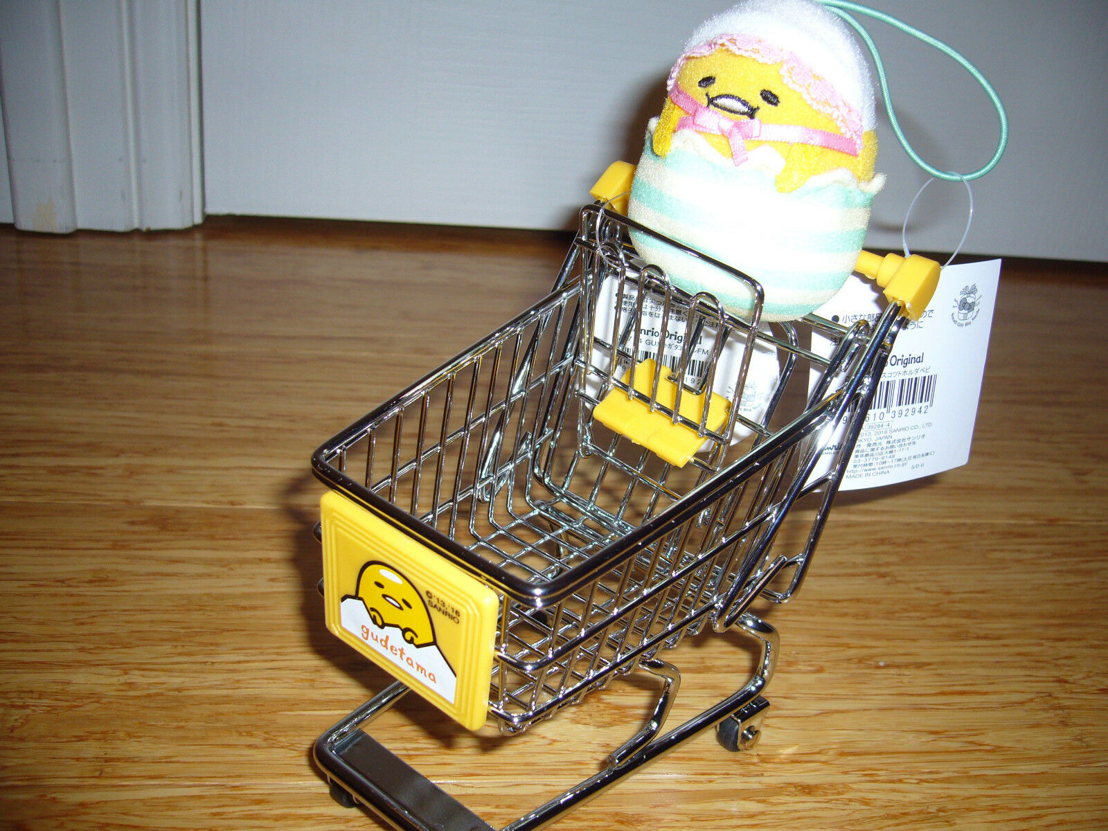 BRAND NEW GUDETAMA SHOPPING TROLLEY WITH DOLL FROM SANRIO JAPAN