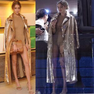 paillettes lungo lungo da Giacca paillettes sexy con donna e maglione con 7vFnIn