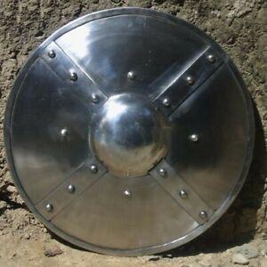 Medieval Warrior Steel Round Shield