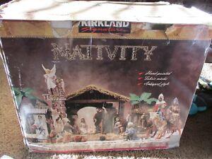 24-pc-Kirkland-Signature-Nativity-Set-Hand-Painted-Gorgeous-detail-RARE-696478