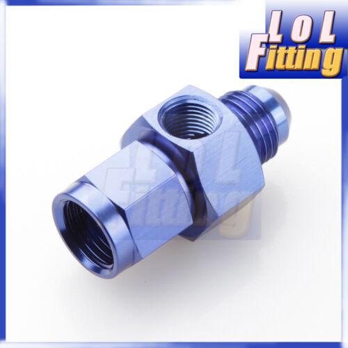 """10AN AN10-10 10 AN female with 1//8/"""" NPT gauge port adapter blue AN male to"""
