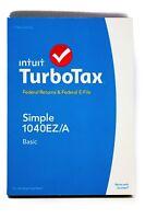 Turbotax Basic 2014 Simple 1040ez/a, Federal Returns & Federal E-file (pc & Mac)