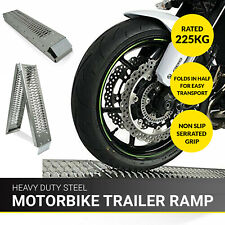 1.8M Bike Folding Steel Motorcycle Ramp Loading Motorbike Van/Truck Lawn Mower