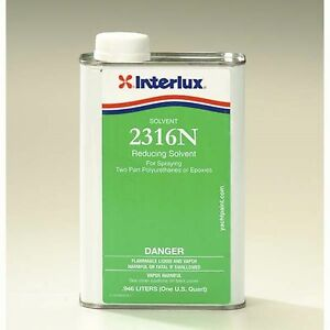 Interlux 2316NQ Reducing Solvent For Marine Spray Application Quart