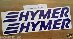2 x hymer vinyle autocollants stickers pour auvent. Black Bedroom Furniture Sets. Home Design Ideas