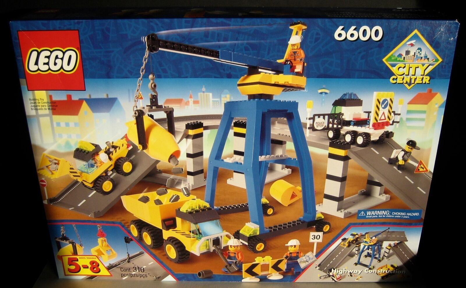 Lego City City City Center 6600 Highway Construction Kit New Factory Sealed Box + 3351 set 20d301