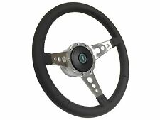 1969 -1989 Pontiac Classic 9 Bolt/Tri Spoke Leather Steering Wheel, Hub & Button