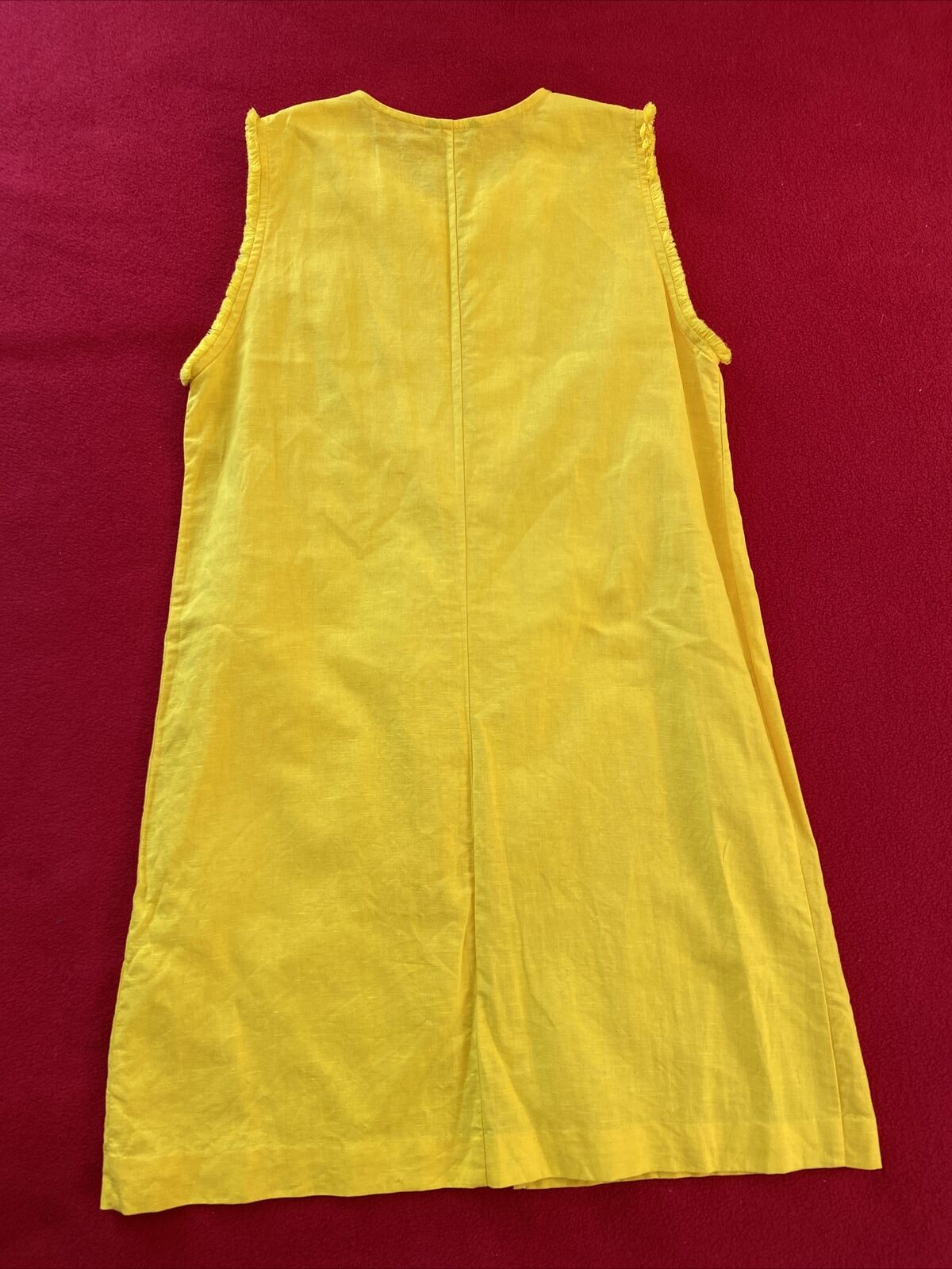 floryday bright yellow linen shift dress size med… - image 6