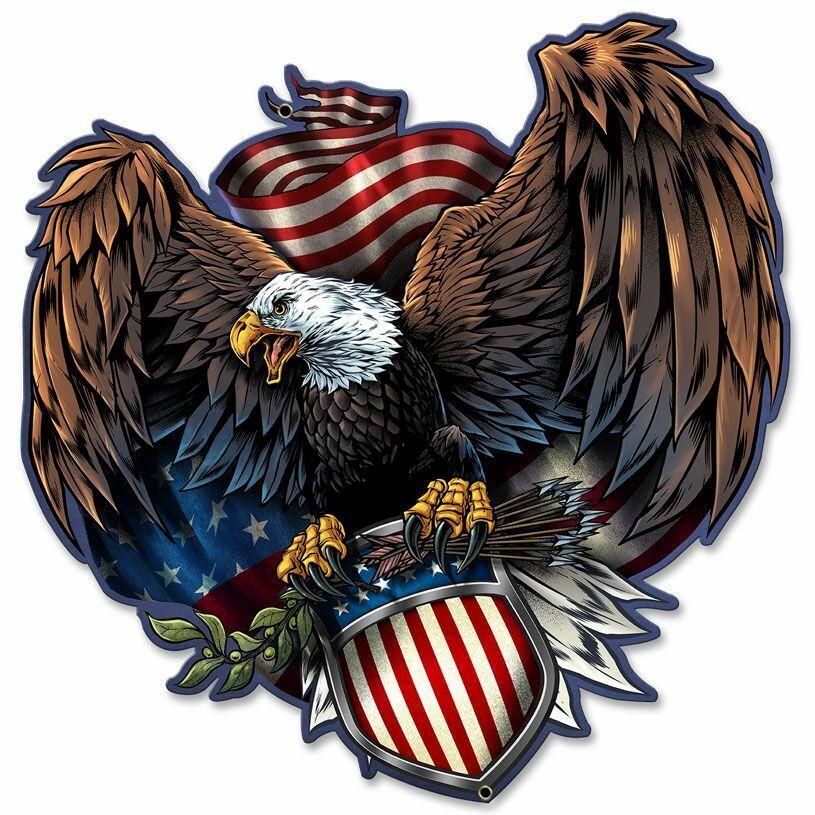 American Eagle Army Plasma Cut Metal Sign