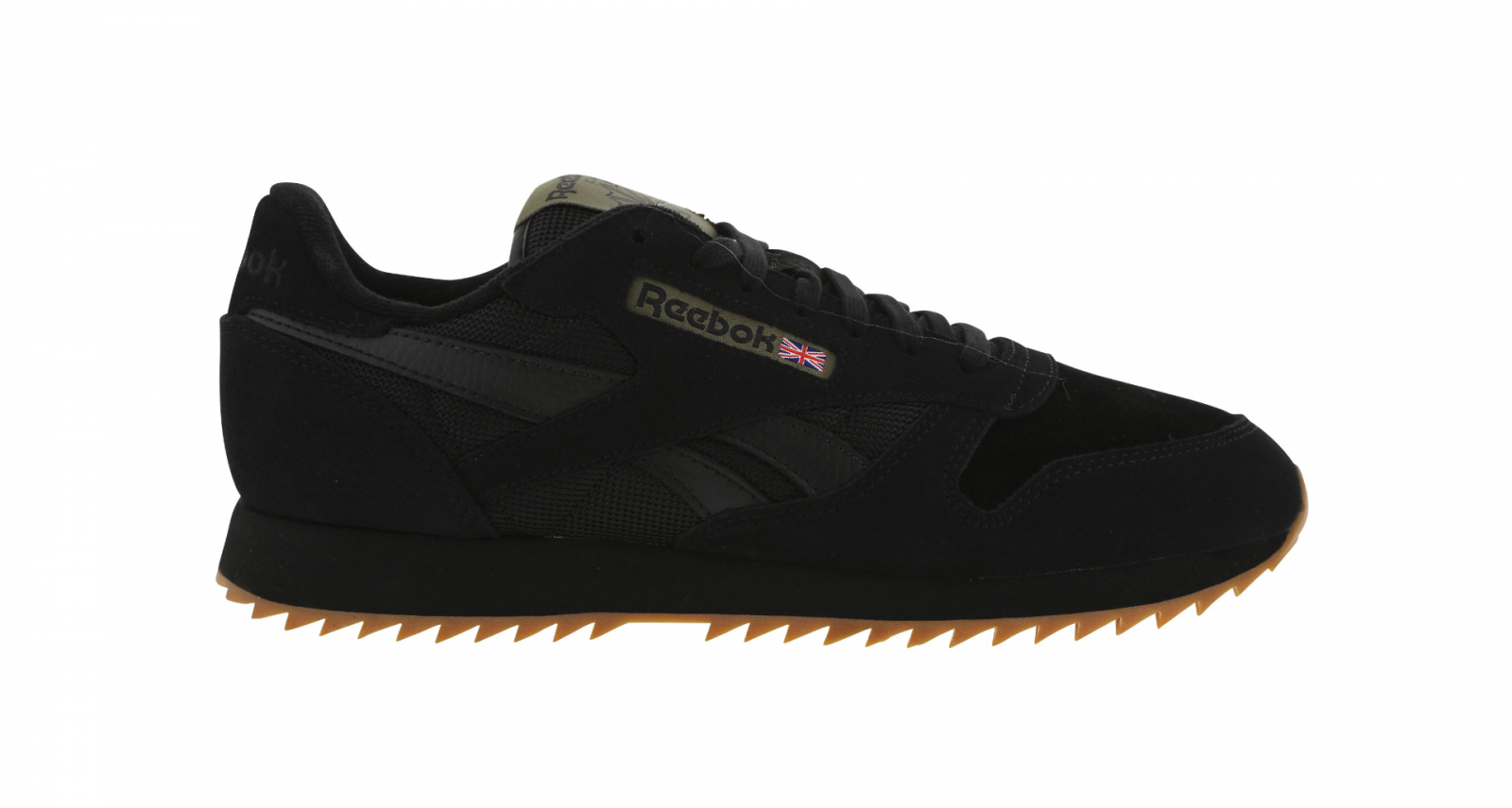 Homme Homme Homme Reebok CL Leather WG Ripple Noir Baskets BD5256 5ff29a