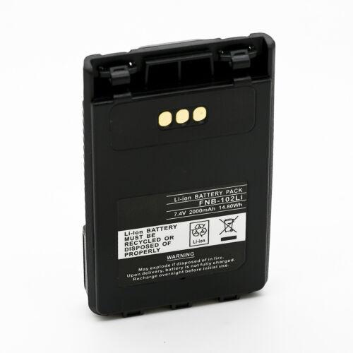2000mAh FNB-102LI Battery for YAESU FT1DR FT1DE FT-1DR FT-1DE Dual Band Radio