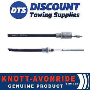 AB Tools Trailer Brake Cable Knott Detachable Threaded End 1630mm 1840mm PAIR BC04
