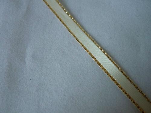 2m Satin Lurex Edged Ribbon 3 mm /& 6 mm Bomboniere//Wedding Favours//Cakes