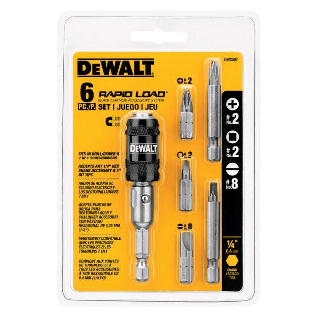 DEWALT DW2507 Compact Rapid Load Set 6-Piece