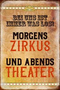 Zirkus-und-Theater-Motiv-2-Blechschild-Schild-gewoelbt-Metal-Tin-Sign-20-x-30-cm