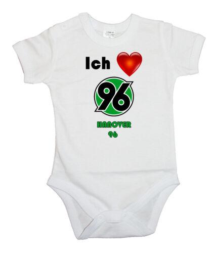 ICH LIEBE HANOVER 96 BABY BODY LANGARM BODYSUIT KURZARM