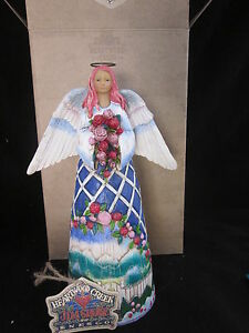 Jim-Shore-Guardian-of-the-Garden-amp-Flowers-Angel-Figurine-Heartwood-Creek-Mint