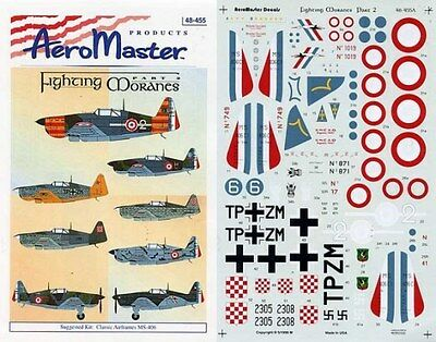 Aeromaster 48-455 - Decals 1/48 - Fighting Moranes Pt. 2 Strong Resistance To Heat And Hard Wearing