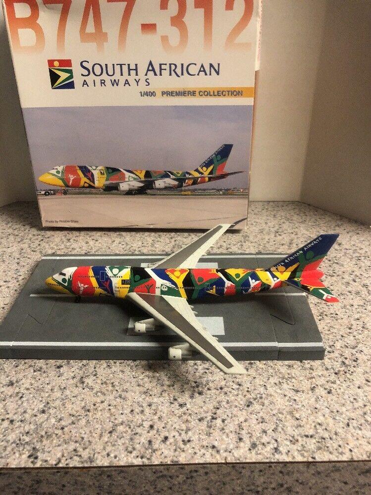 Dw 400 escala Diecast Modelo S African Airways B747-3 comercial avión ZS-Saj