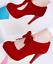Women-High-Heels-Stilettos-Bowknot-Platform-Suede-Party-Cocktail-Sexy-Pumps-Shoe thumbnail 4