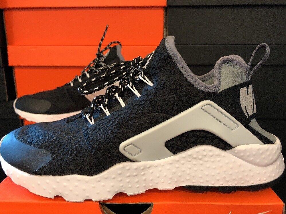 Nike Women's Air Huarache Run Ultra SE BLACK COOL GREY GREY GREY 859516 002 size 7 a2a79a