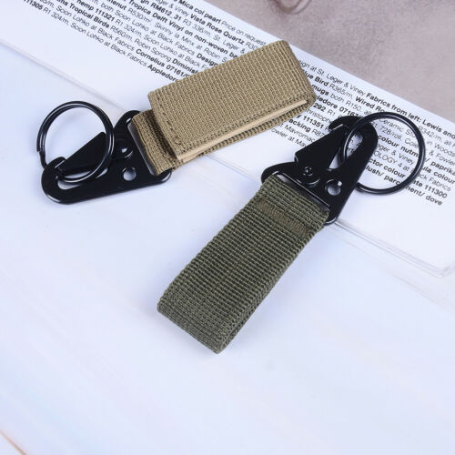 Outdoor camping tactical carabiner backpack hook survival gear nylon claspGKES