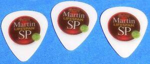 MARTIN-Lifespan-SP-Medium-White-Guitar-Picks-with-Logo-NEW-10-pack