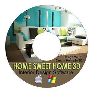 3d Home Interior Design House Architect Software Kitchen Bathroom Bedroom Cad Ebay