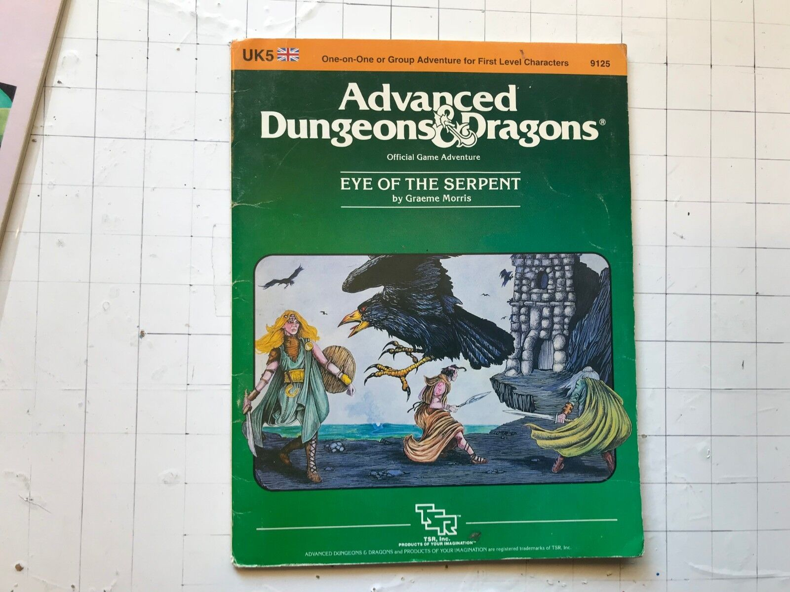 TSR 1st Advanced Dungeon & Draghi 1984 UK5 Eye Of The Serpente D&d Modulo  Rpg