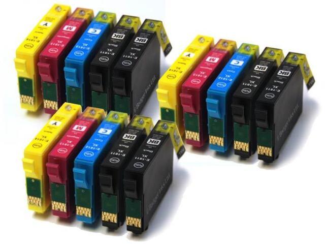 15 tinta cartuchos para Epson WF2010W WF2510WF WF2530WF WF2540WF set Non Oem