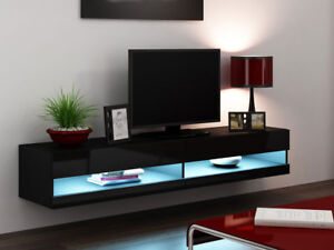 tv lowboard lucas new led h ngend tv schrank sideboard h ngeschrank 11 farben ebay. Black Bedroom Furniture Sets. Home Design Ideas