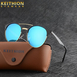 New-Vintage-UV400-Outdoor-Shades-Womens-Mens-Retro-Round-Polarized-Sunglasses