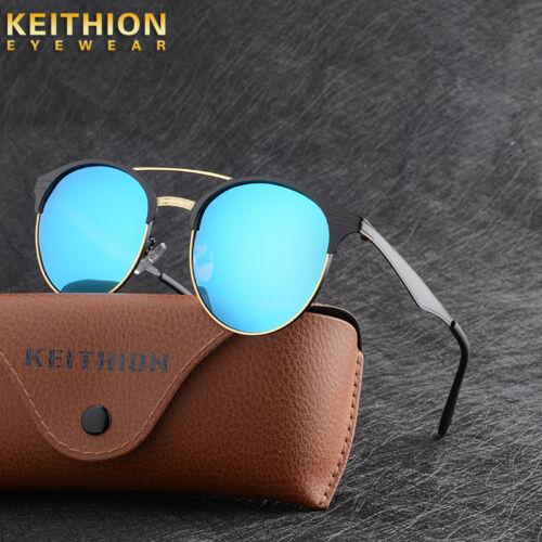Nouveau Vintage UV400 Outdoor Nuances Pour Femme Homme Rétro Ronde Lunettes de soleil polarisées