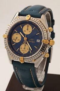 Image is loading Rare-Breitling-Blue-Angels-Chronomat-B13048-Chronograph- Watch