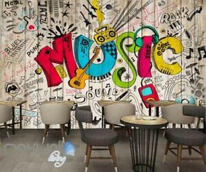 Image Is Loading 3D Graffiti Music Color Board Wall Murals Wallpaper