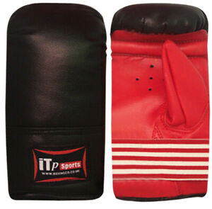 Junior-Boxing-Gloves-Mitts-Punch-Bag-Training-Sparring-Leather-Gloves-Kids