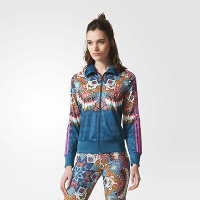 Womens Blue Floralita Track Top