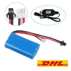 7-4V-1500mAh-Battery-15C-SM-Plug-mit-USB-Ladekabel-fuer-RC-Car-Boat