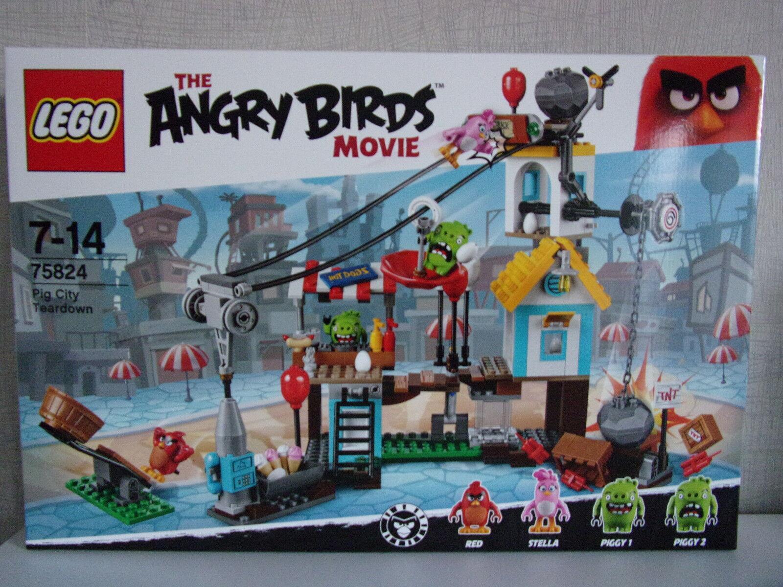 spedizione gratuita in tutto il mondo LEGO ANGRY ANGRY ANGRY BIRDS 75824 (Pig città Teardown) - NUOVO & OVP  qualità di prima classe